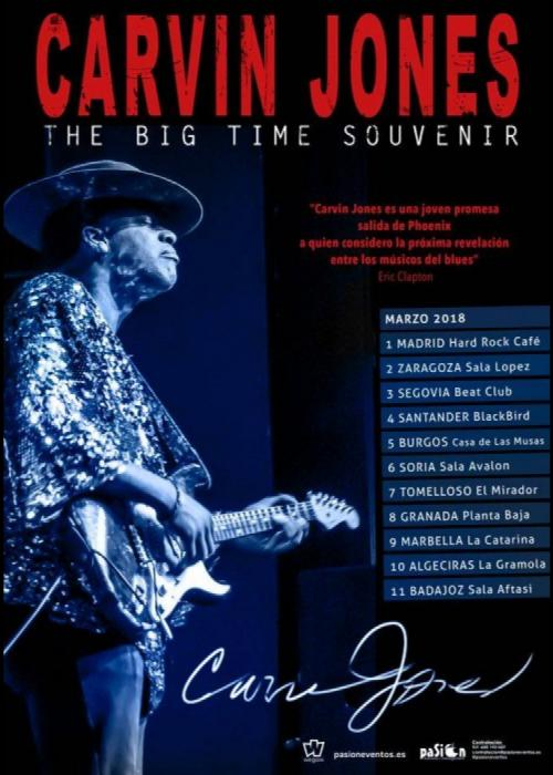 Cartel de Concierto de Carvin Jones Band en Granada
