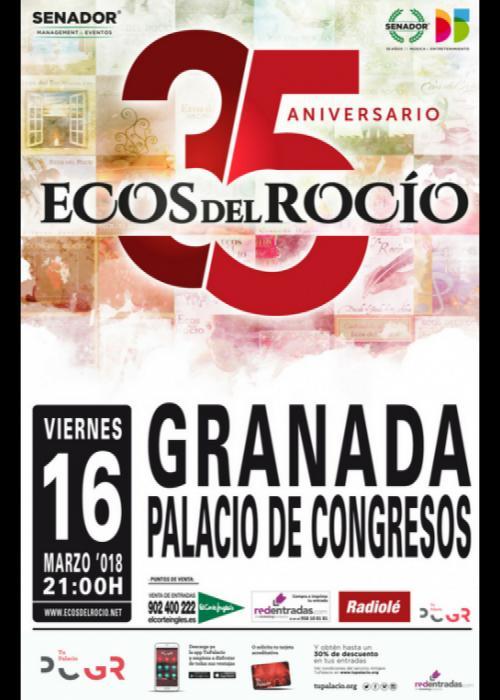 Cartel de Concierto de Ecos del Rocío en Granada