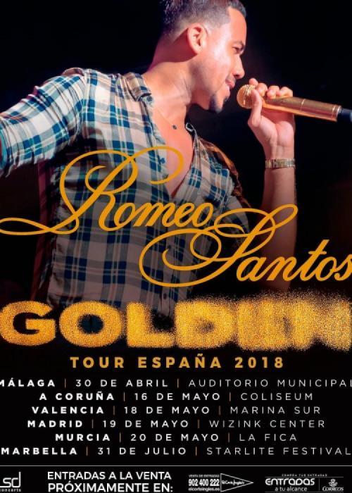 Cartel de Concierto de Romeo Santos en Murcia