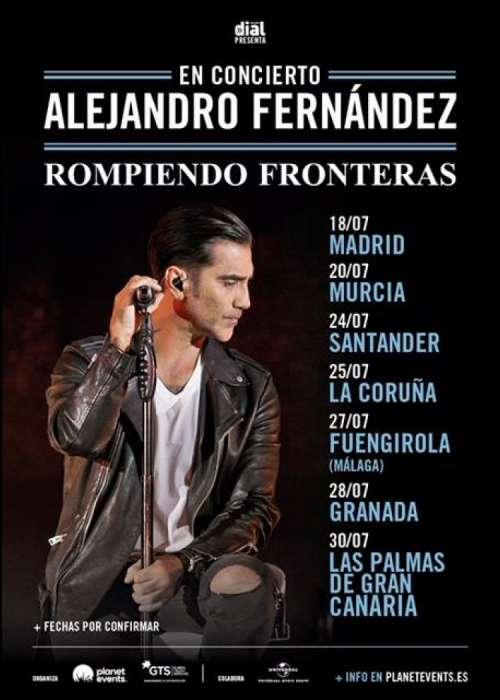 Cartel de Concierto de Alejandro Fernández en Granada