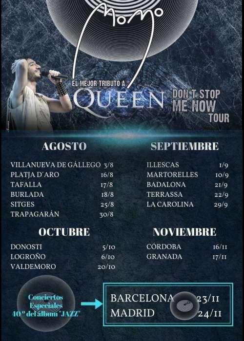 Concierto De Momo The Best Tribute To Queen En Tarragona Comprar Entradas
