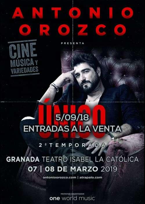Cartel de Concierto de Antonio Orozco en Granada