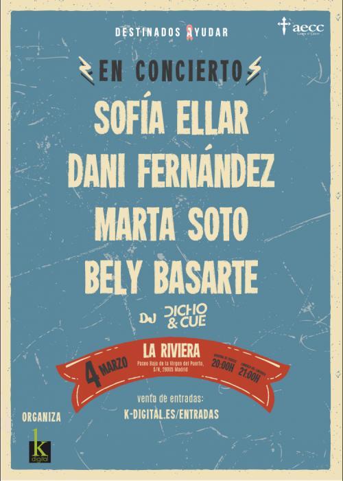 Concierto de Sofía Ellar + Dani Fernández + Bely Basarte + Marta Soto en Madrid