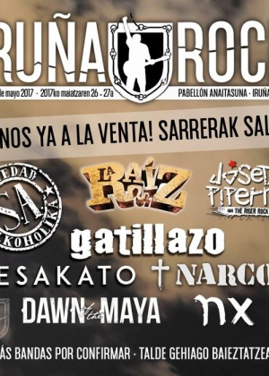 Cartel de Iruña Rock 2017
