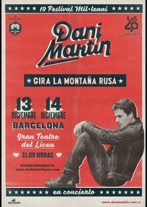 Concierto de Dani Martín en Barcelona