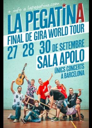 Cartel en baja resolución del Concierto de La Pegatina en Barcelona