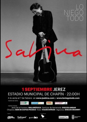 Concierto de Joaquín Sabina en Jerez de la Frontera