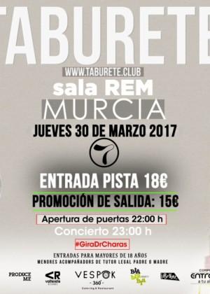 Concierto de Taburete en Murcia