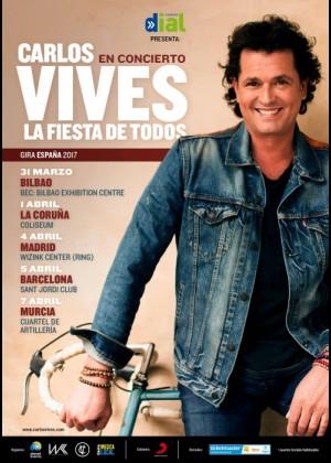 Concierto de Carlos Vives en A Coruña