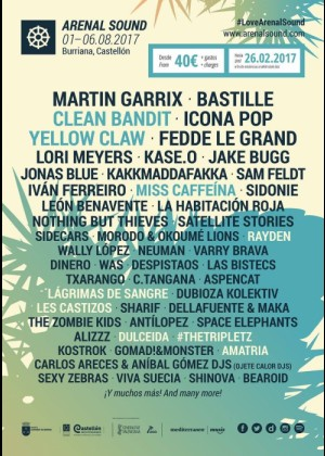 Cartel de Arenal Sound 2017