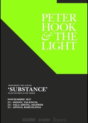 Cartel en baja resolución del Concierto de Peter Hook & The Light en Barcelona