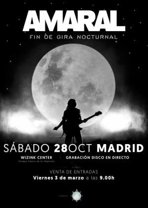 Concierto de Amaral en Madrid (Fin de Gira)