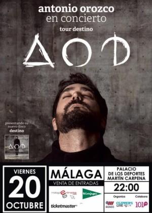 Concierto de Antonio Orozco en Málaga