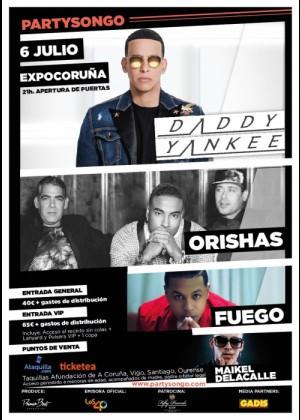 Concierto de Daddy Yankee + Orishas + Fuego + Maikel Delacalle en A Coruña