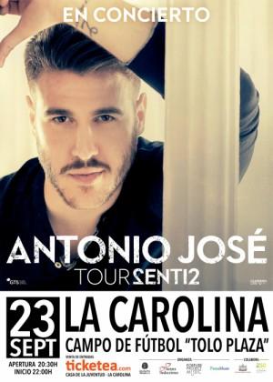 Concierto de Antonio José en La Carolina