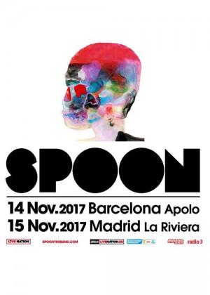 Cartel en baja resolución del Concierto de Spoon en Barcelona