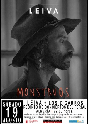Concierto de Leiva + Los Zigarros en Almería