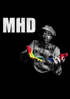 Cartel en baja resolución del Concierto de MHD en Barcelona