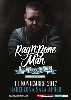 Cartel en baja resolución del Concierto de Rag'n'Bone Man en Barcelona