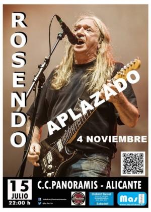 Cartel de Concierto de Rosendo en Alicante