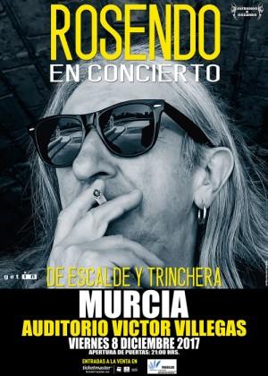 Cartel de Concierto de Rosendo en Murcia