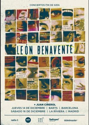 Concierto de León Benavente en Barcelona