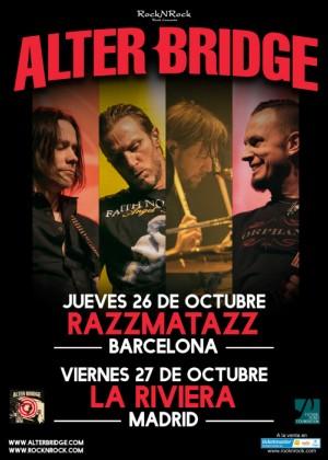 Concierto de Alter Bridge en Barcelona