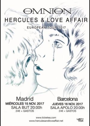 Cartel en baja resolución del Concierto de Hercules and Love Affair en Barcelona