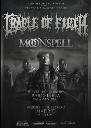 Concierto de Cradle of Filth + Moonspell en Madrid