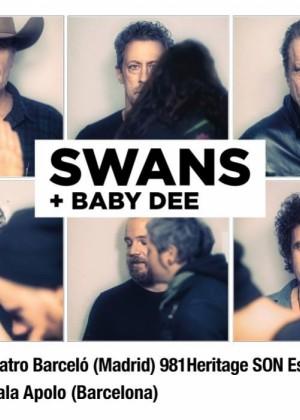 Cartel en baja resolución del Concierto de Swans en Barcelona