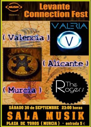 Levante Connection Fest. The Rogers + Valeria + The Paw-Paw Negro en Murcia. Sala Musik.