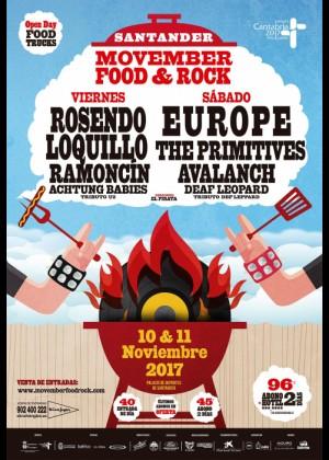 Cartel de Movember Food & Rock