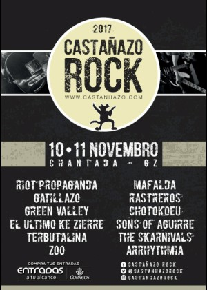 Cartel de Castañazo Rock 2017