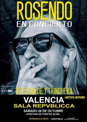Cartel de Concierto de Rosendo en Valencia