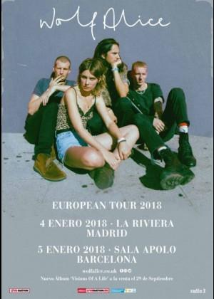 Concierto de Wolf Alice en Barcelona