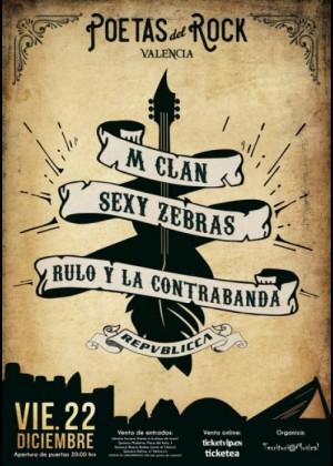 Cartel de Festival Poetas del Rock de Valencia