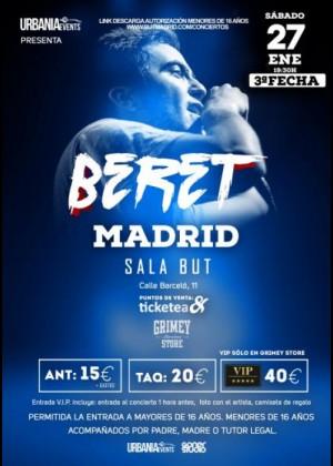 Concierto de Beret en Madrid