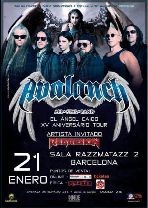 Concierto de Avalanch en Barcelona