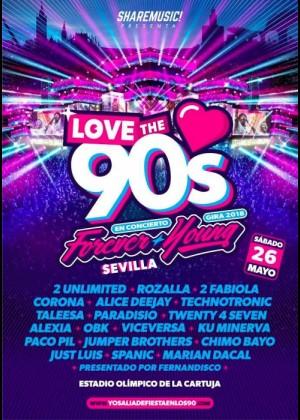 Cartel de Love The 90s en Sevilla