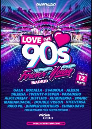 Cartel de Love The 90s en Madrid