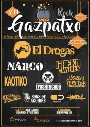 Cartel de Gazpatxo Rock 2018