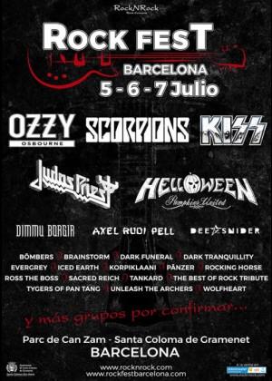 Cartel de Rock Fest BCN 2018