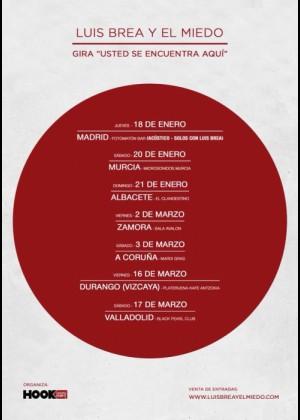 Concierto de Luis Brea y el miedo en Valladolid