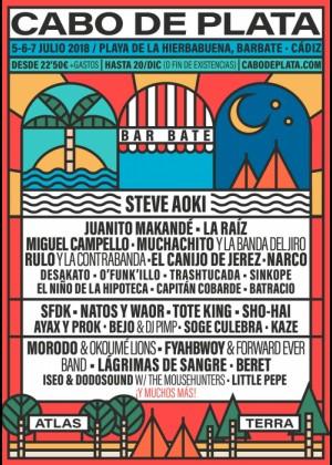Cartel de Cabo de Plata Festival 2018