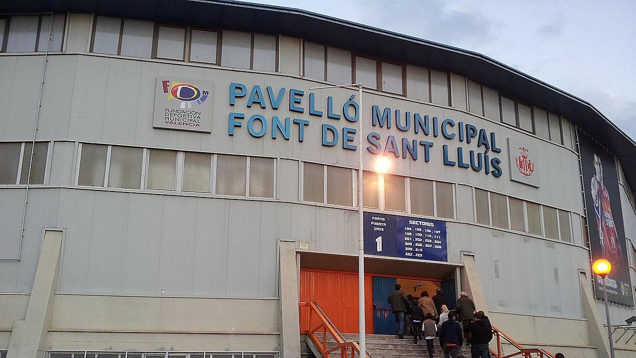 Logo de La Fonteta o Pabellón Fuente de San Luis