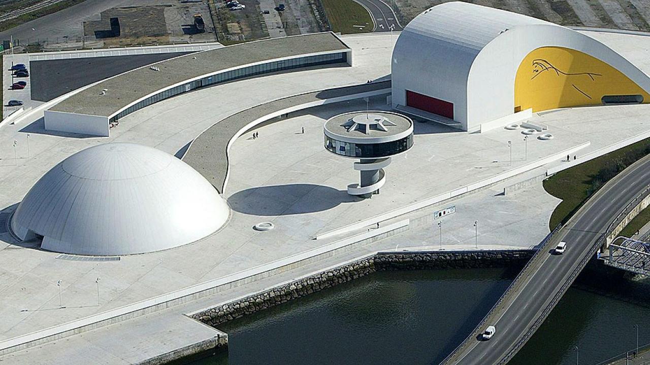 Logo de Centro Niemeyer. Centro Cultural Internacional.
