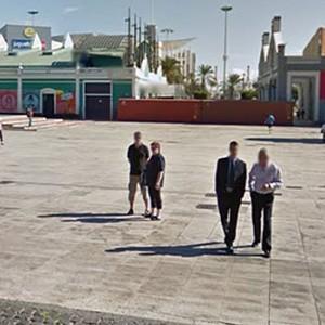 Escenario del Parque o Plaza de Santa Catalina