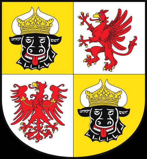 Wappen des Bundeslandes Mecklenburg-Vorpommern