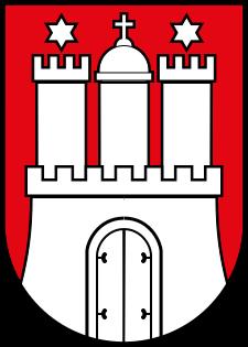 Wappen des Bundeslandes Hamburg
