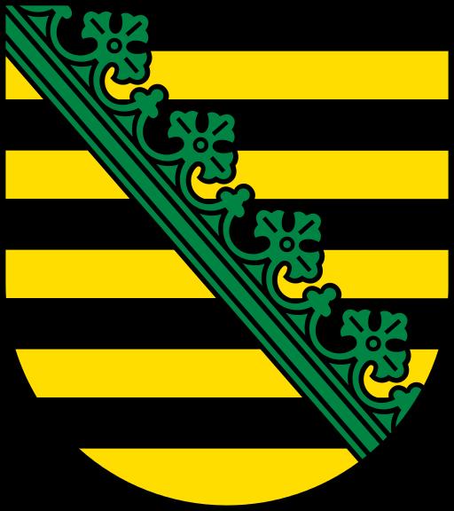 Wappen des Bundeslandes Sachsen